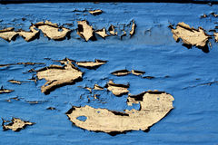 Vägg med skadad målarfärg royaltyfri fotografi