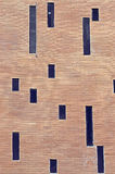 Vägg med små fönster Royaltyfri Bild