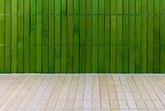 Vägg och golv av ett mattt sugrör Royaltyfria Bilder