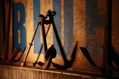 Vägg och nattsikt av ankaret Fotografering för Bildbyråer