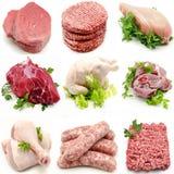 Vägg- olika kött Royaltyfri Fotografi