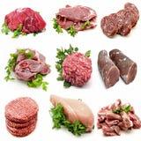 Vägg- olika meats Fotografering för Bildbyråer