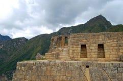 Vägg på Machu Picchu Fotografering för Bildbyråer