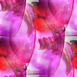 Vägg- sömlös hatt med bakgrund för blommamodell Arkivbild
