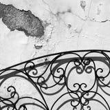 Vägg, skuggor och konturer abstrakt stads- Royaltyfria Bilder