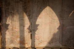 Vägg som göras av tegelstenkvarter Fotografering för Bildbyråer