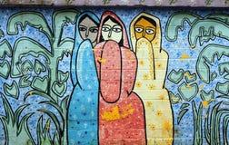Vägg som smärtar i Bangladesh Arkivbilder