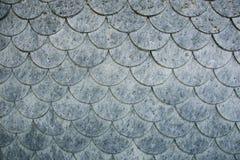 Vägg som täckas med fjälliga beståndsdelar av flingan för fintrådigt material Royaltyfri Bild