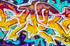 Vägg som täckas med grafitti i Berlin, Tyskland Fotografering för Bildbyråer