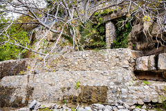 Vägg Wadi Bani Habib Royaltyfri Foto