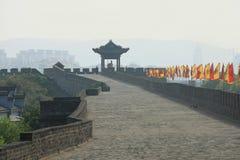 Vägg Xiangyang för forntida stad Arkivfoton