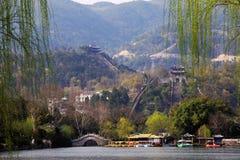 vägg zhejiang för landskap s för porslin stor royaltyfri fotografi