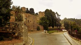 Väggar av alcazabaen Fotografering för Bildbyråer