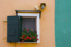 Väggar av Burano, Venedig fotografering för bildbyråer