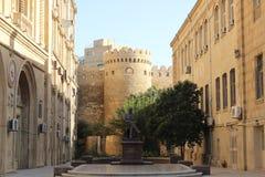 Väggar av gamla Baku Royaltyfri Foto