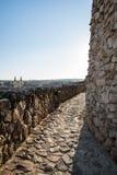 Väggar av slotten av Eger, Ungern Arkivbilder