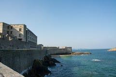 Väggar av St Malo arkivbilder