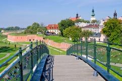 Väggar av Zamosc, Polen fotografering för bildbyråer