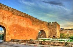 Väggar för forntida stad av Safi, Marocko Royaltyfri Bild