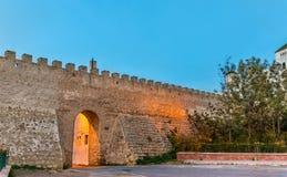 Väggar för forntida stad av Safi, Marocko Royaltyfria Foton