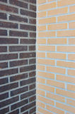 väggar för tegelsten två Royaltyfri Fotografi