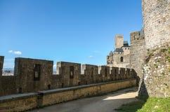 La Cité, Carcassonne Royaltyfria Bilder