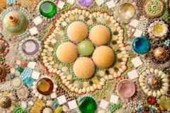 Väggar som göras av exponeringsglas, marmor, keramiskt och crystal Royaltyfri Foto
