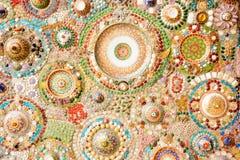 Väggar som göras av exponeringsglas, marmor, keramiskt och crystal Arkivbilder