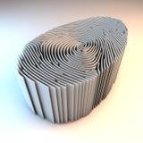 Väggar som ska identifieras med fingeravtryck Arkivbild