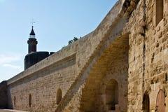 Väggarna av Aigues-Mortes arkivbild
