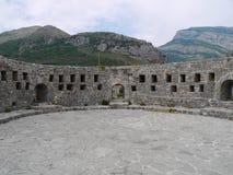 Väggarna av den gamla stadstången, Montenegro Royaltyfria Bilder