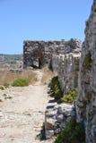 Väggarna av det Methoni slottet Arkivbild
