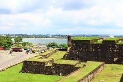 Väggarna av fortet i Galle Royaltyfria Bilder