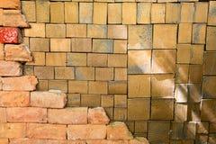 Väggarna dekoreras Arkivbild