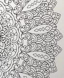 Väggbakgrund med orientaliska prydnader arkivfoto
