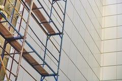 Väggbeläggning med sammansatta paneler Arkivbilder