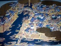 Väggbild på den Haneda flygplatsen, Tokyo, Japan royaltyfri bild