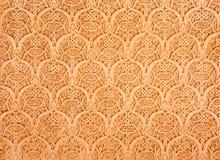 VäggCarvings i Alhambraen av Granada, Spanien Royaltyfria Bilder