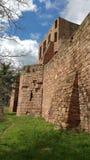 Väggdetalj av den Nideggen slotten, Tyskland Royaltyfria Bilder
