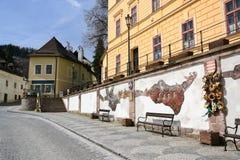 Väggen av Banska Stiavnica Royaltyfri Foto