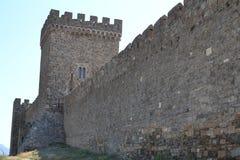 Väggen av fästningen Royaltyfri Fotografi