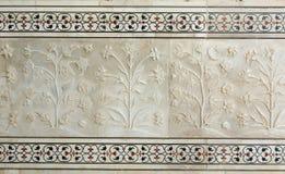 Väggen av Taj Mahal i Agra, Indien royaltyfri fotografi