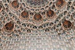 Väggen för den Gur-e Amirmausoleet mönstrar Samarkand arkivbilder