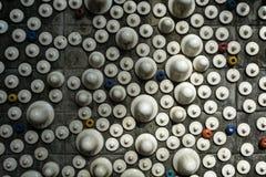 Väggen göras av vitt keramiskt arkivbilder