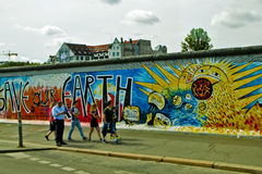 Väggen i Berlin Arkivfoto
