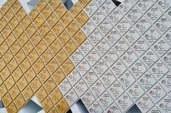 Väggen med olympiska medaljer i olympiskt parkerar, Sochi, rysk federation Arkivfoton