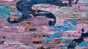 Väggen tegelsten som är gammal, grunge, bakgrund, tappning, textur, arkitektur, stads- som är smutsig, hårdnar, mönstrar, rött, g arkivbilder