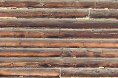 Väggen texturerar av timmer Royaltyfri Fotografi