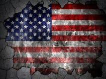 Väggflagga av Förenta staterna Royaltyfria Bilder