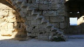 Väggfragment av den medeltida fästningen Royaltyfri Bild